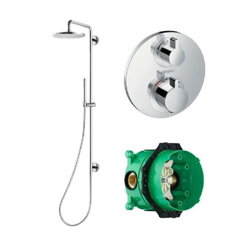 Abacus Temptation Thermostatic Concealed Shower Coloumn With Shower Kit